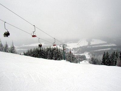 Вид с горы (200м по склону ниже верхушки Чёрной)